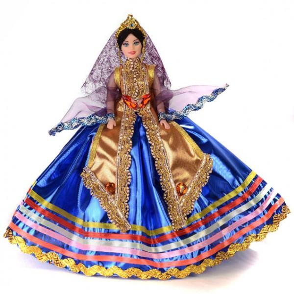 عروسک زن محلی آبی