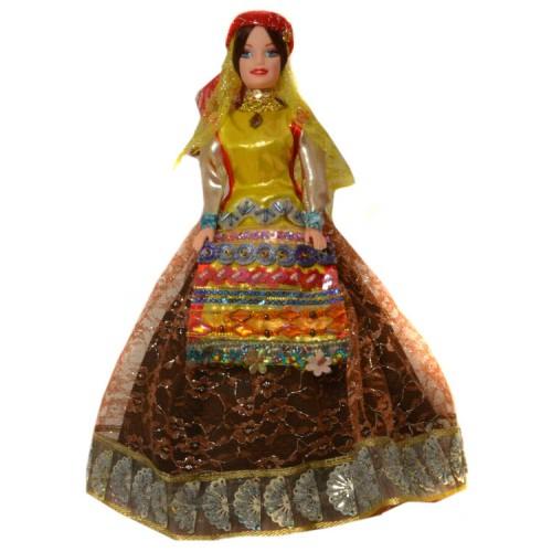 عروسک سفره هفت سین زن قشقایی قهوه ای