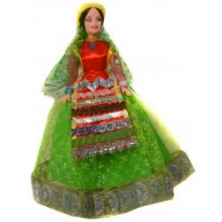 عروسک سفره هفت سین زن قشقایی سبز