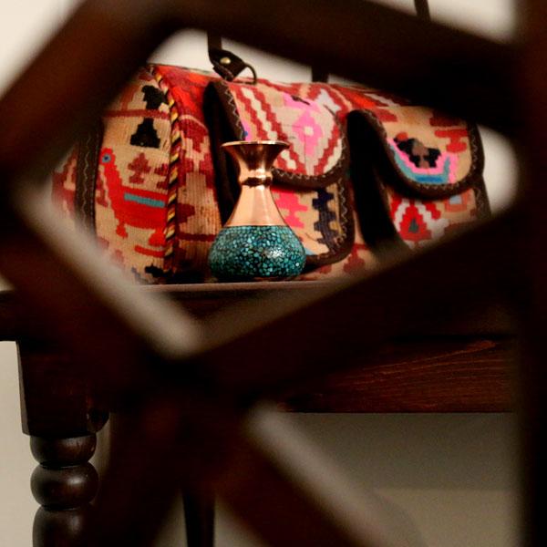 کیف صندوقی گلیمی