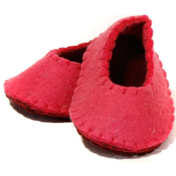 کفش نوزاد صورتی نمدی 5505
