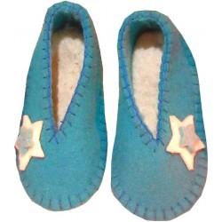کفش نمدی بچگانه فیروزه ای 305