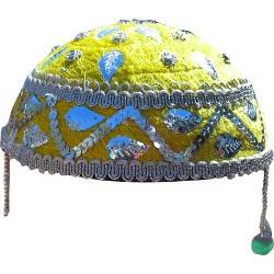 کلاه سنتی زرد