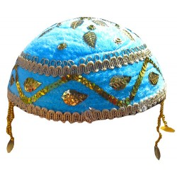 کلاه سنتی آبی