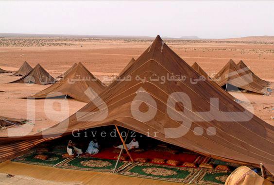 اجرای سیاه چادر مثلثی