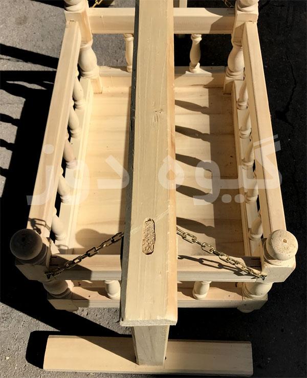 خرید گهواره چوبی نوزاد