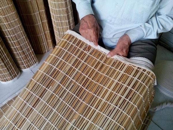آموزش بافت حصیر چوبی