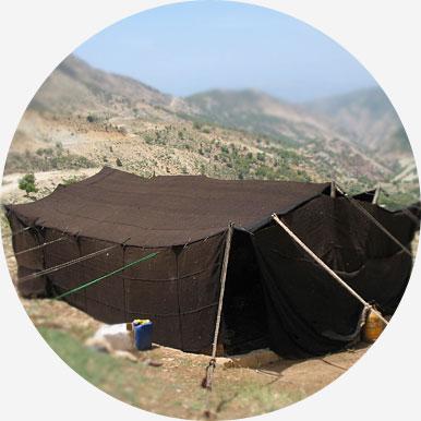نصب سیاه چادر