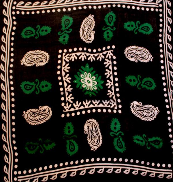 روسری گلونی مشکی