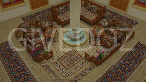 طراحی خانه سنتی ایرانی
