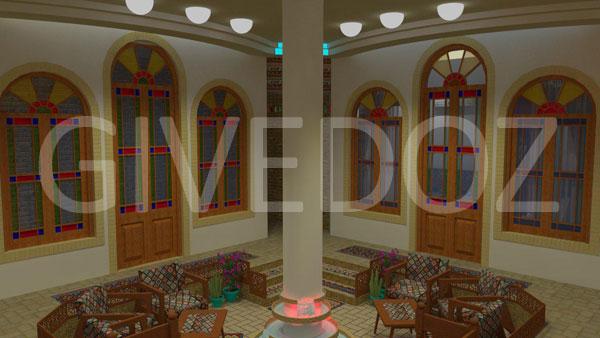 طراحی خانه های سنتی ایرانی