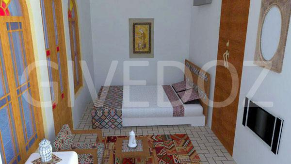 طراحی دکوراسیون اتاق خواب سنتی