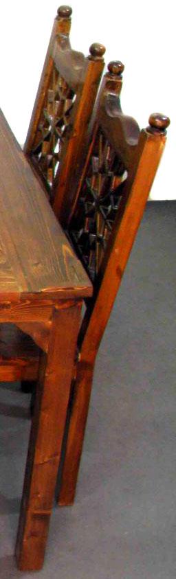 میز غذا خوری چوبی گره چینی
