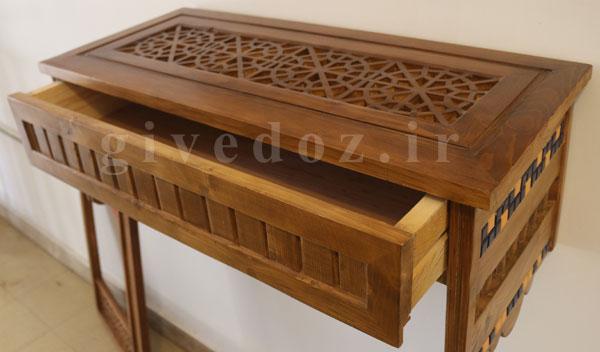خرید آینه کنسول چوبی سنتی