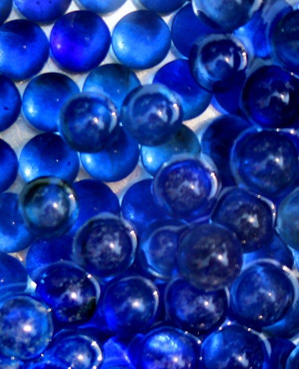 خرید تیله شیشه ای آبی