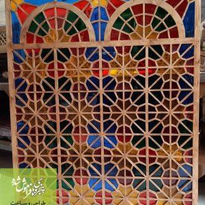 خرید پنجره گره چینی چوبی