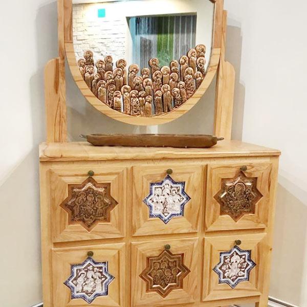 خرید آینه کنسول چوب راش قیمت