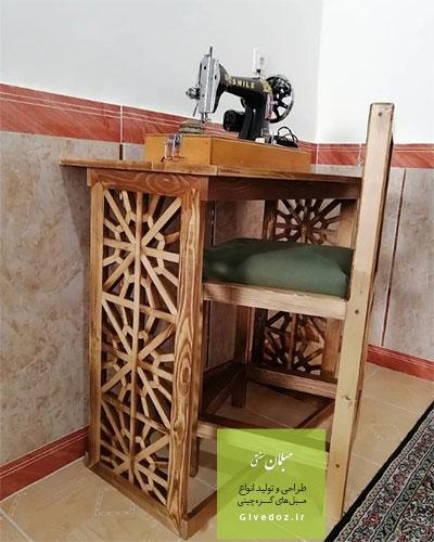 خرید میز چرخ خیاطی سنتی