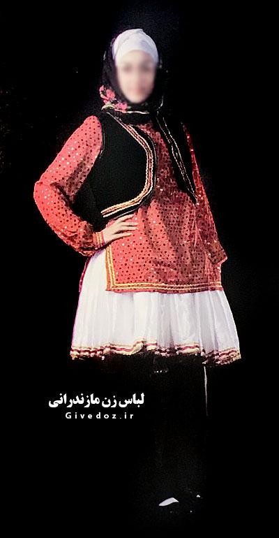 عروسک زن مازندرانی با لباس محلی