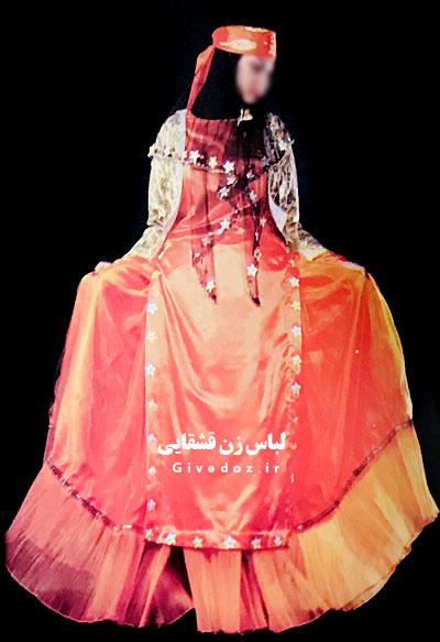 عروسک زن قشقایی با لباس محلی