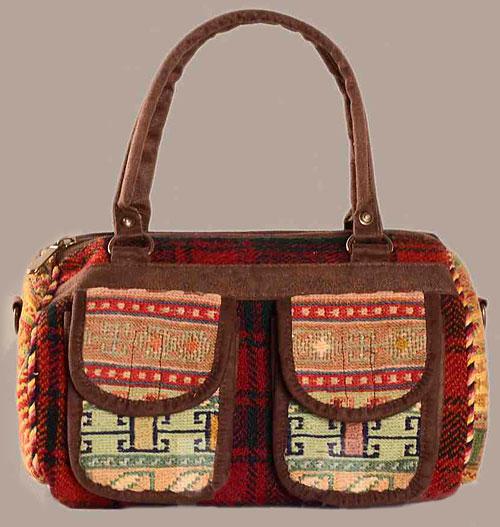 کیف گلیمی دو جیب دار