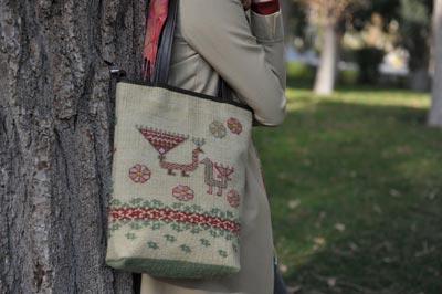 طراحی کیف سنتی گلیمی