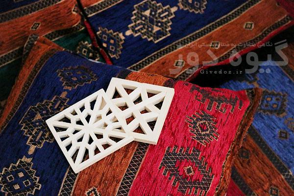 خرید پارچه تخت سنتی قهوه خانه
