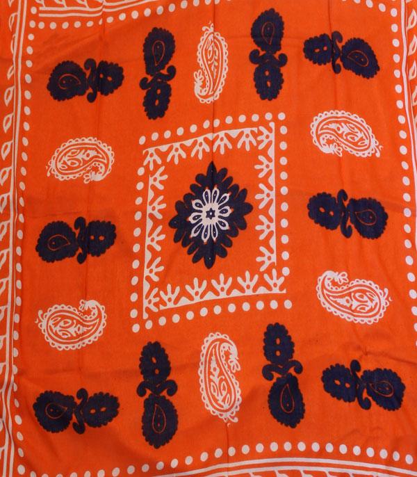 روسری گلونی نارنجی