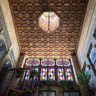 طراحی سقف چوبی سنتی