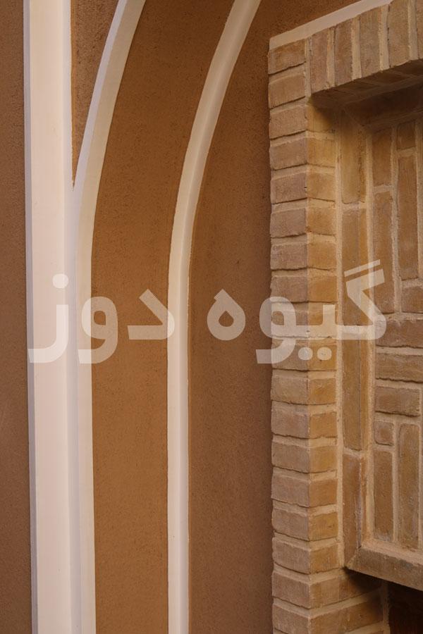 طراحی دیوار با کاه گل