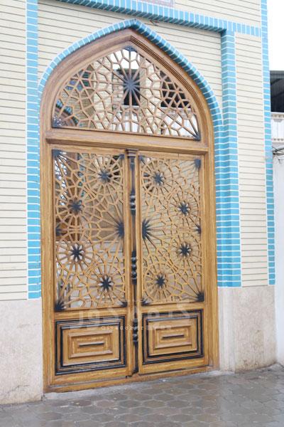 درب مسجدی آهنی گره چینی