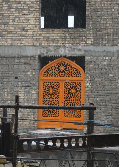 درب و پنجره مسجدی گره چینی