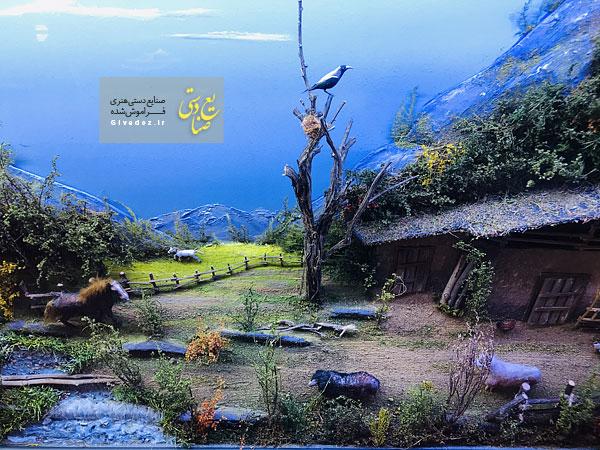 تابلو طرح برجسته خانه های شمال ایران