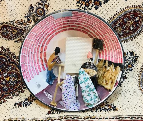 تابلو سنتی طرح سنگکی