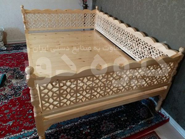ساخت تخت چوبی رستورانی