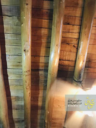 تیر چوبی قدیمی برای سقف