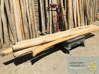 تیر چوبی برای سقف سنتی