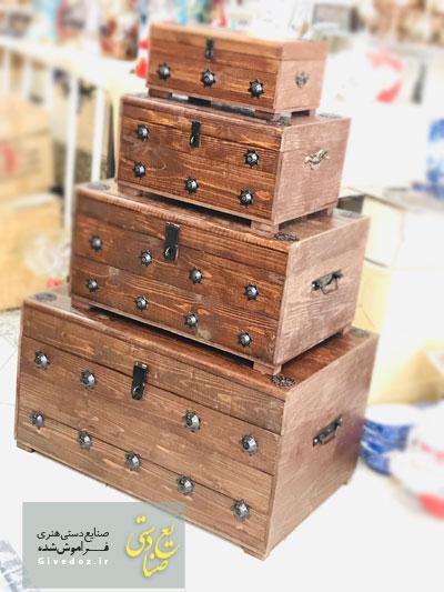 ساخت صندوقچه چوبی قدیمی