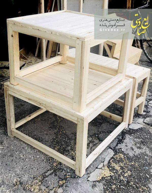 خرید کرسی چوبی گرد