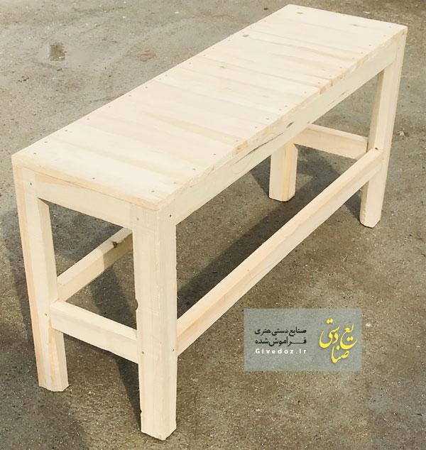 ساخت نیمکت چوبی سنتی