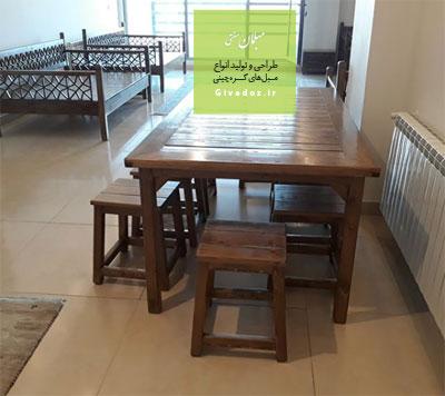 میز و نیمکت سنتی 8 نفره