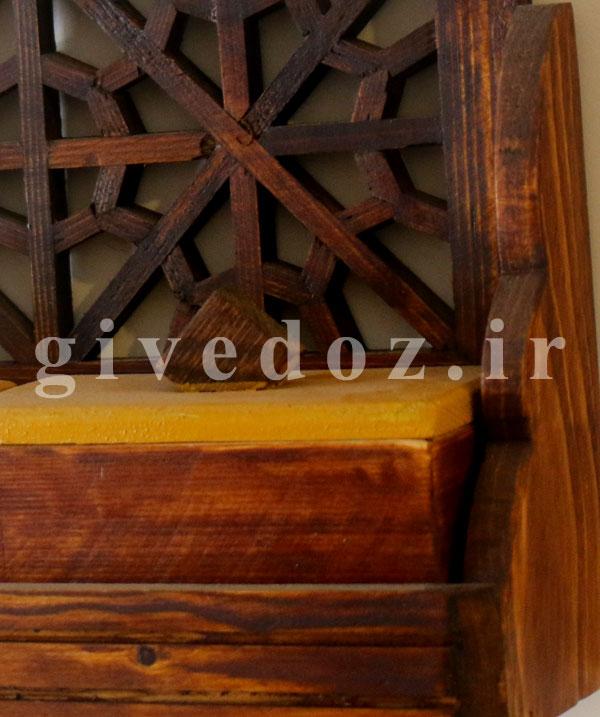 خرید جا ادویه ای چوبی دیواری