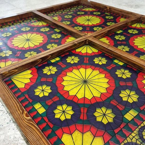 خرید شیشه نورگیر سنتی