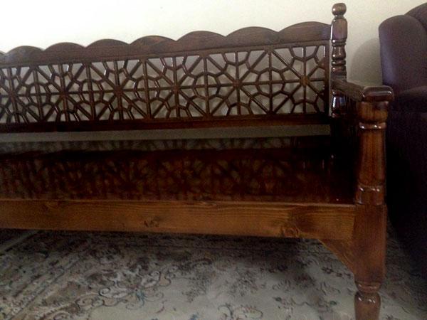 تخت سنتی چوبی گره چینی